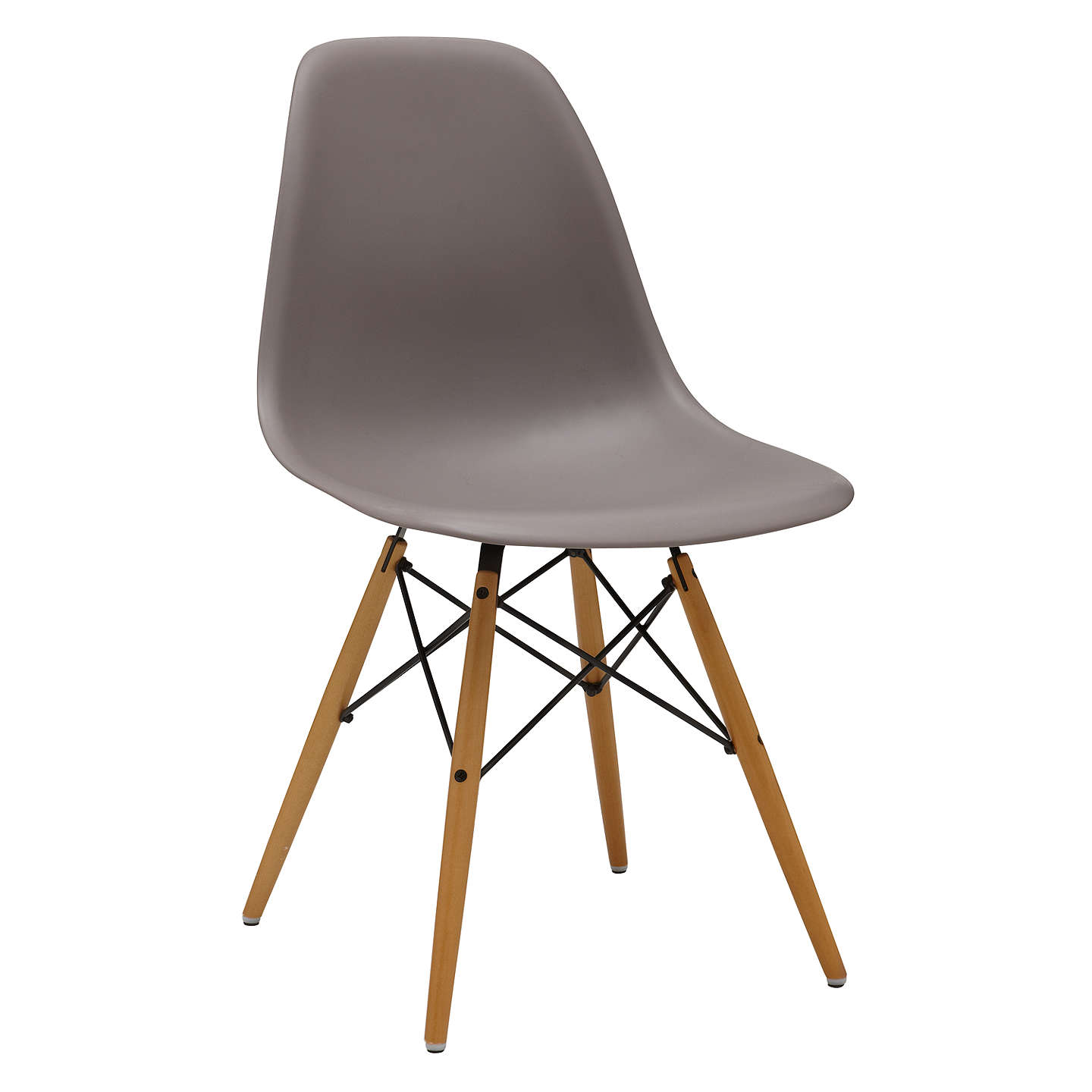 BuyVitra Eames DSW Side Chair, Mauve Grey Online at johnlewis.com