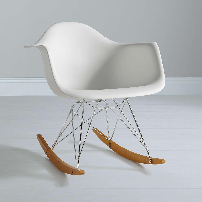 vitra eames rar rocking chair white at john lewis