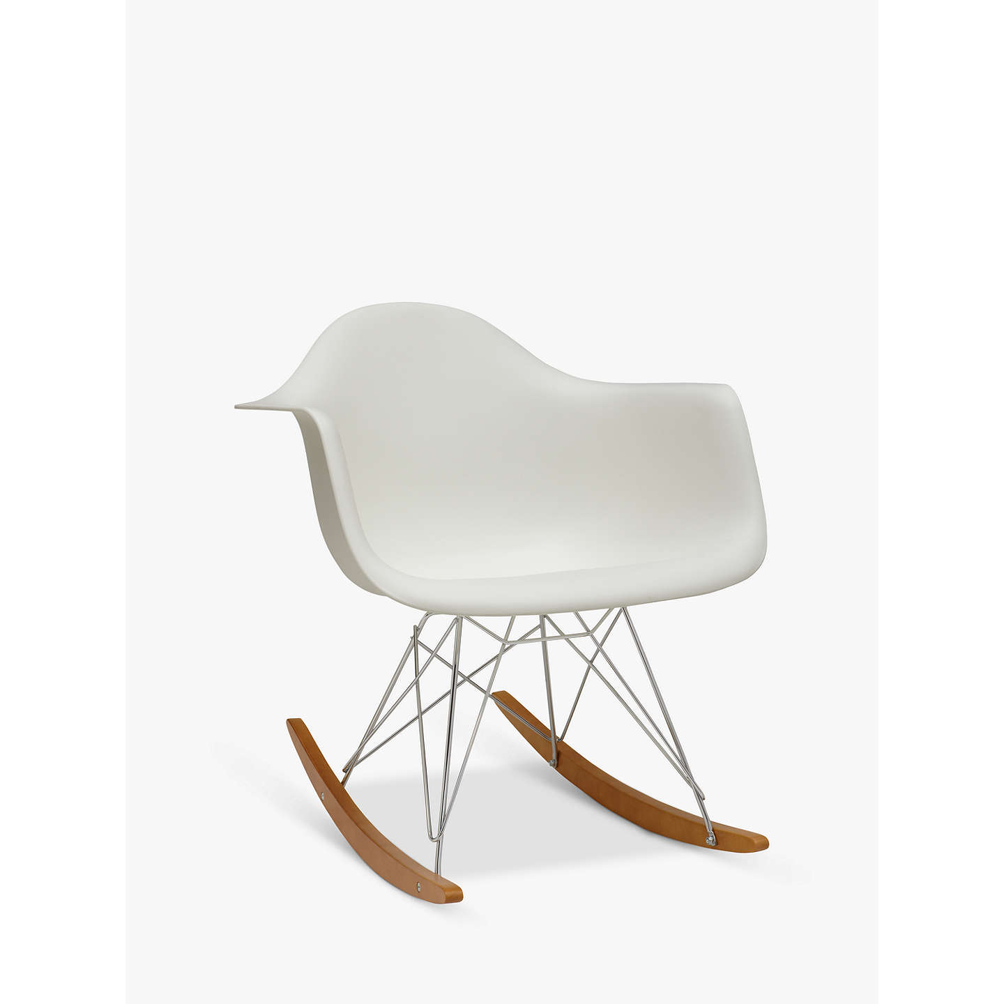 Vitra eames rar rocking chair white at john lewis - Rocking chair vitra ...