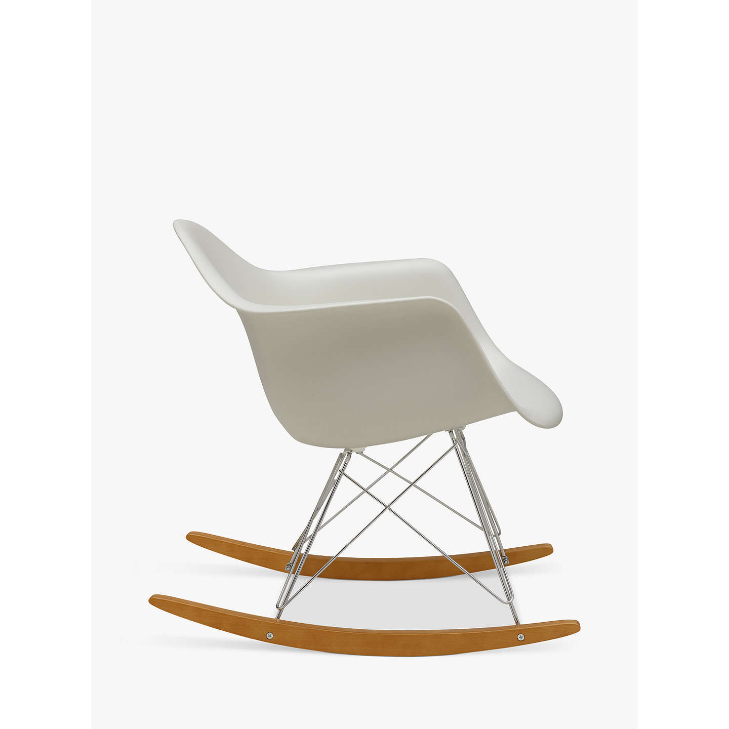 vitra eames rar rocking chair white at john lewis. Black Bedroom Furniture Sets. Home Design Ideas