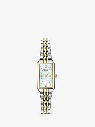 Citizen EG2694-59D Women's Eco-Drive Silhouette Bracelet Strap Watch, Silver/Gold