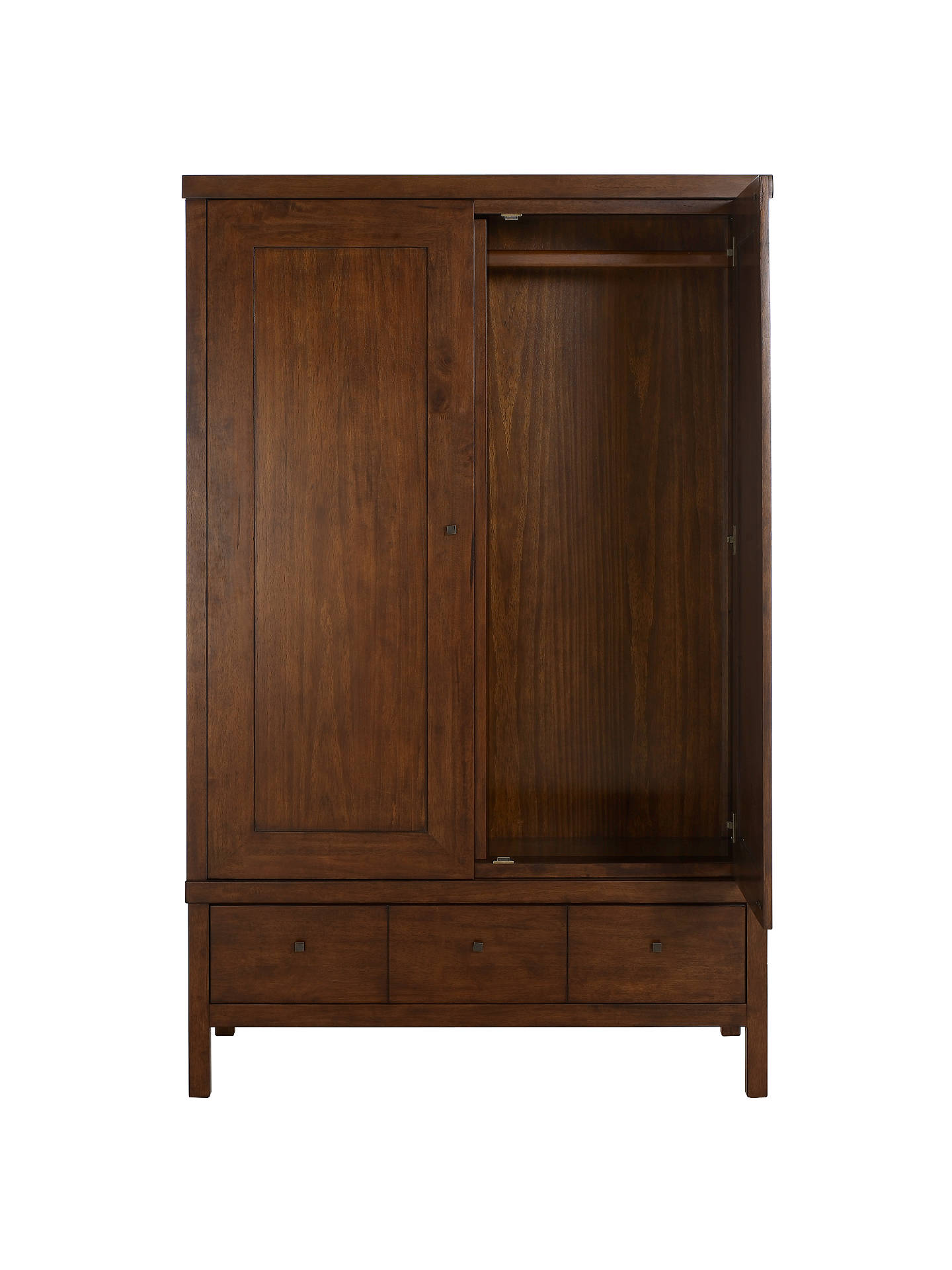 Buy John Lewis Kerala 2-door Wardrobe, Dark Ruberwood Online at johnlewis.com