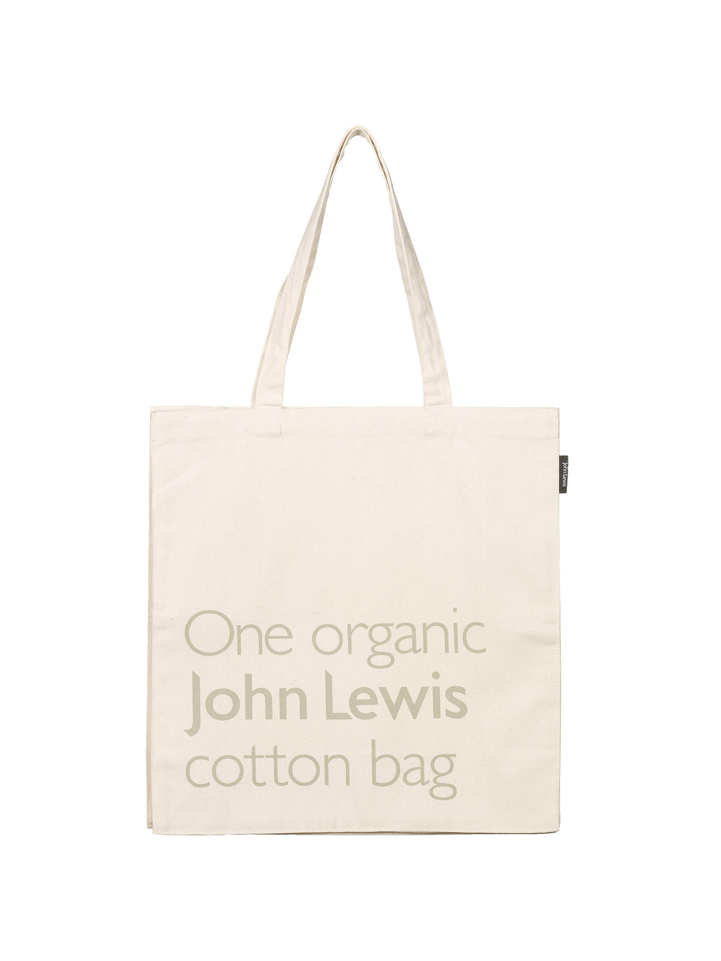 John Lewis Partners Organic Cotton Bag Online At Johnlewis