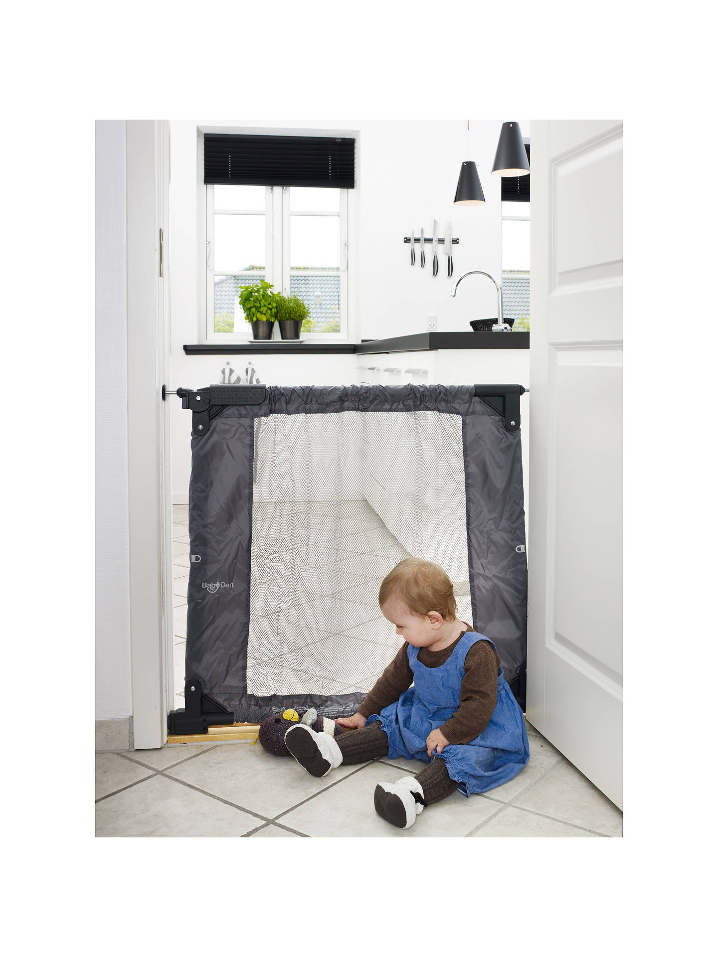 Babydan Baby Gate Togo Grey At John Lewis Partners