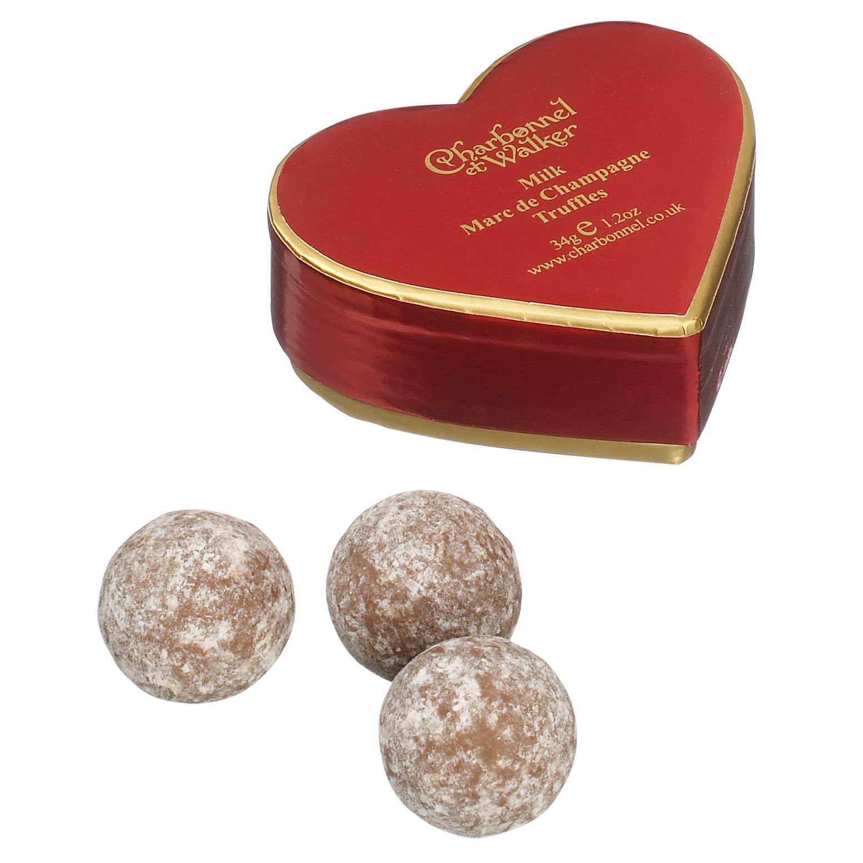 Charbonnel et Walker Charbonnel et Walker Mini Red Heart Champagne Truffle, 34g