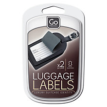Buy Go Travel Leather Luggage Tag, Set of 2, Black/Brown Online at johnlewis.com