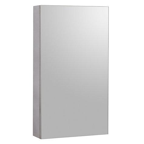 buy john lewis single mirrored bathroom cabinet large stainless steel online at johnlewis