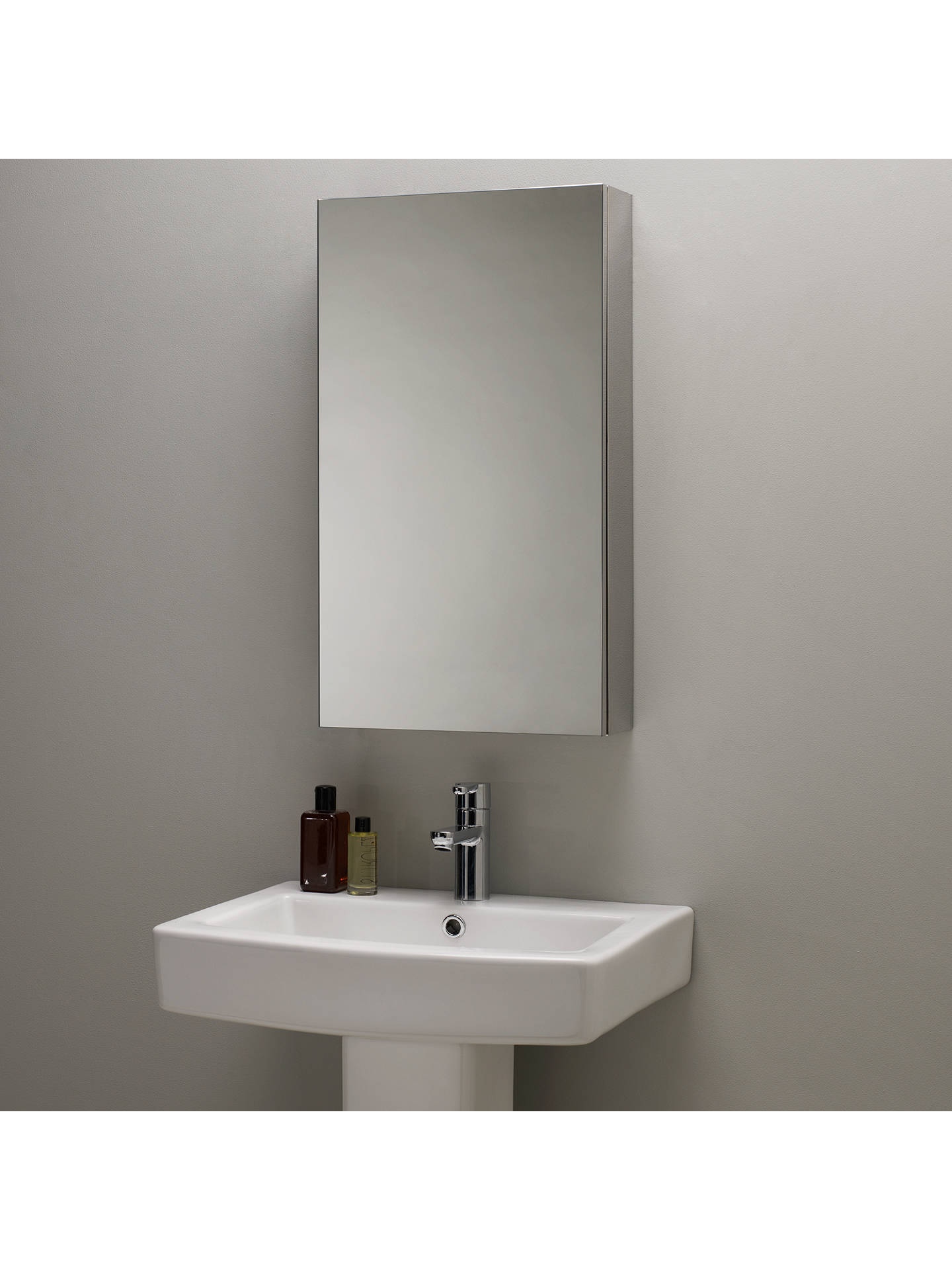 Single Mirrored Bathroom Cabinet Large