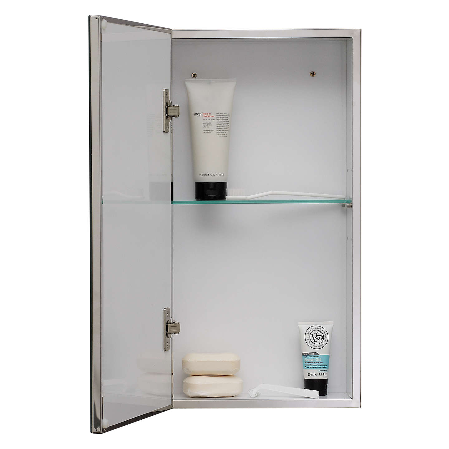 Free Standing Kitchen Cabinets John Lewis: John Lewis Single Mirrored Bathroom Cabinet, Small