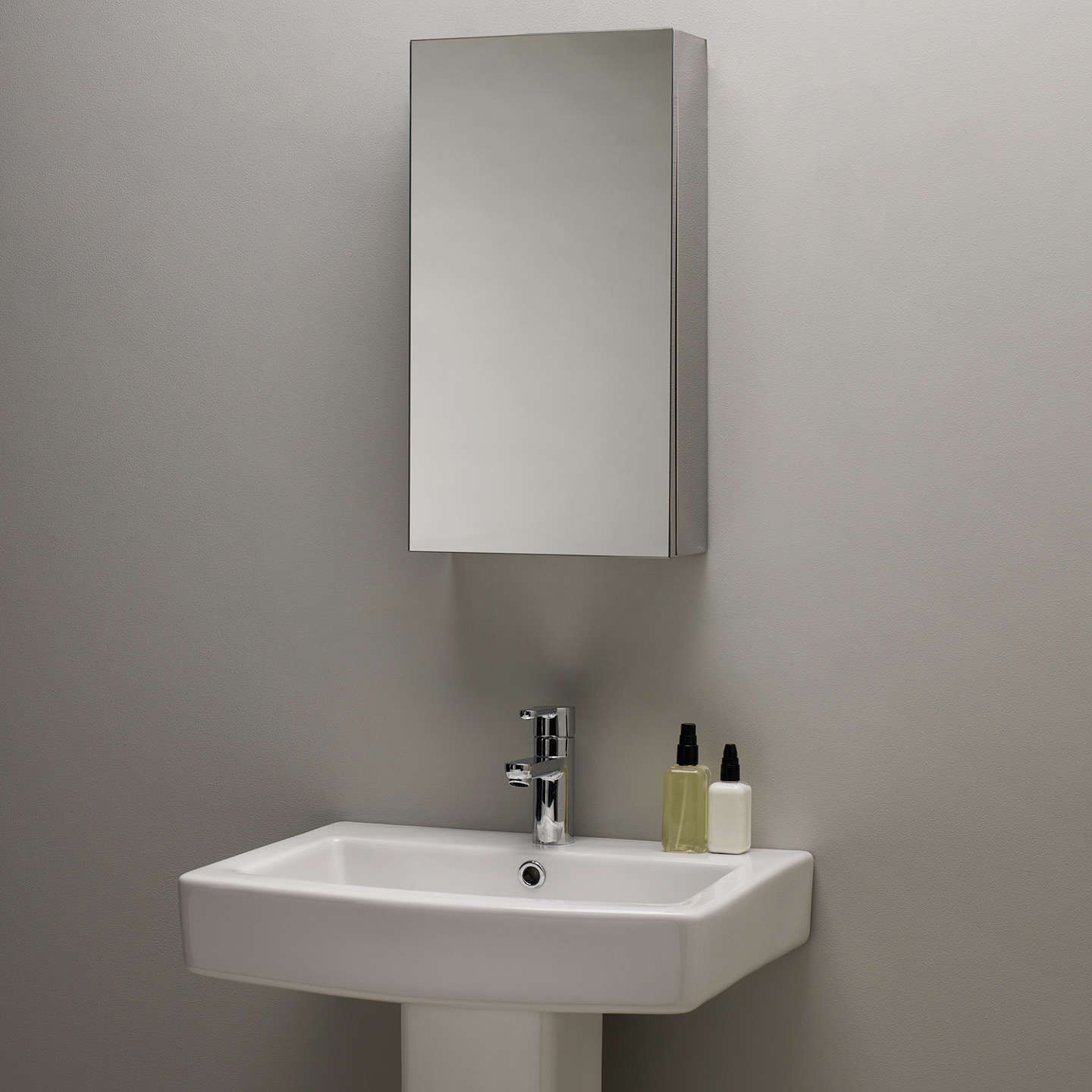 John Lewis Single Mirrored Bathroom Cabinet Small