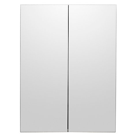 buy john lewis double mirrored bathroom cabinet stainless steel online at johnlewiscom - Bathroom Cabinets John Lewis