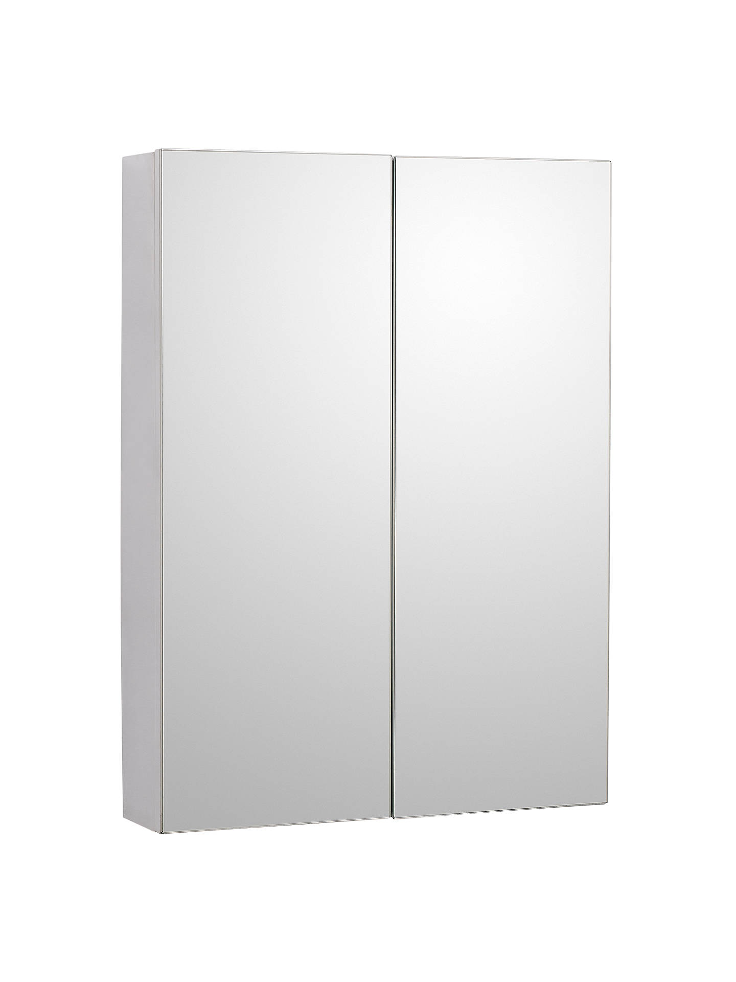 John Lewis Double Mirrored Bathroom Cabinet, Stainless Steel at John ...