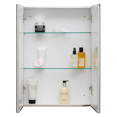 buy john lewis double mirrored bathroom cabinet stainless steel online at johnlewiscom