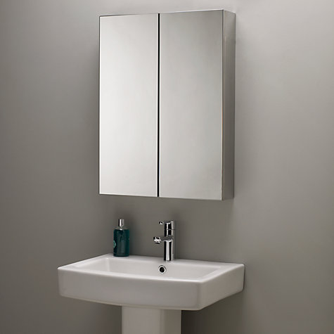 buy john lewis double mirrored bathroom cabinet stainless. Black Bedroom Furniture Sets. Home Design Ideas