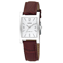 Buy Lorus RRS91JX8 Women's Classic Leather Strap Watch, Brown/Silver Online at johnlewis.com
