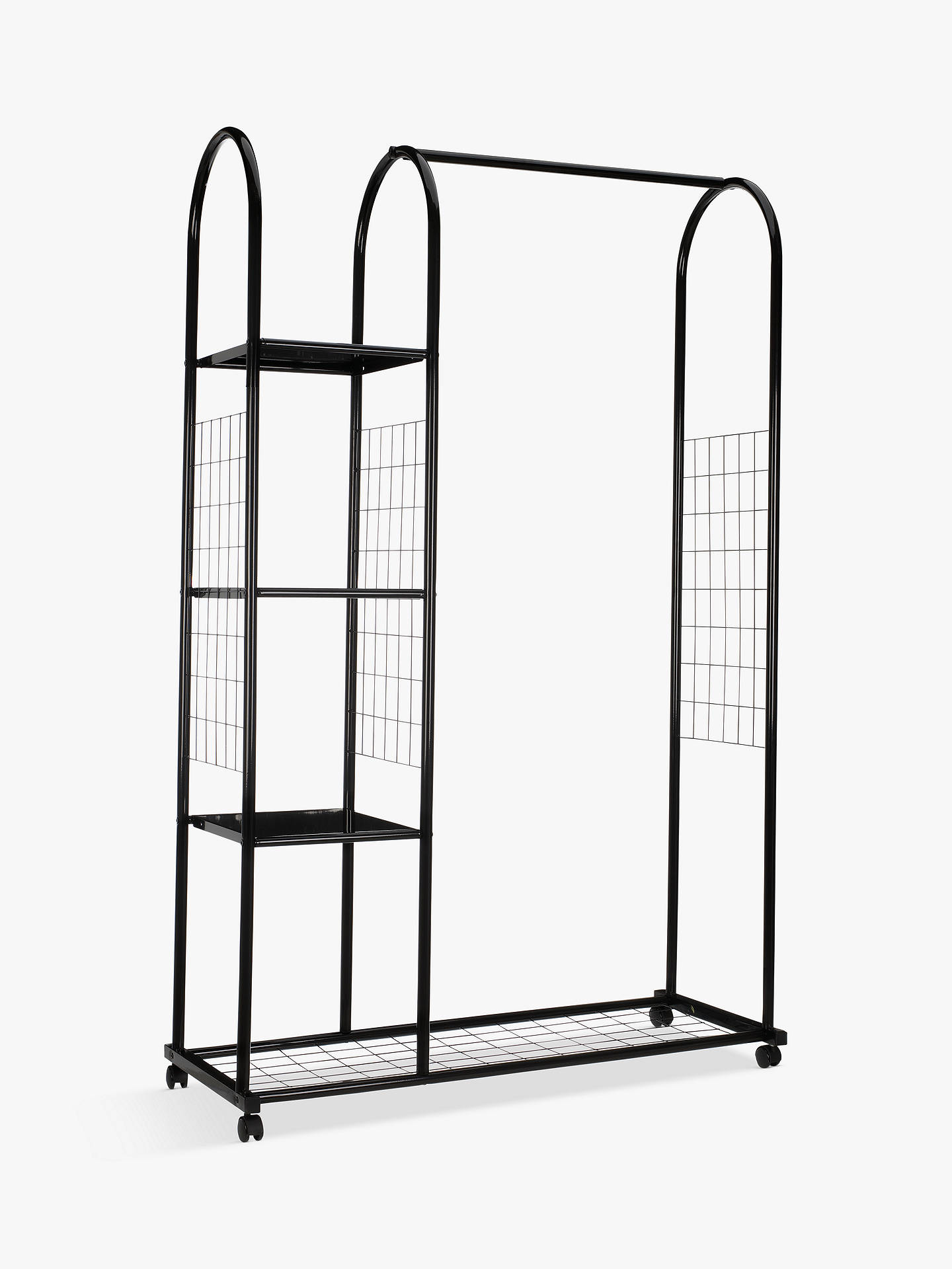 BuyJohn Lewis & Partners Clothes Rail with Shelf Unit, Black Online at johnlewis.com
