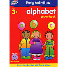 Buy Galt Early Activities Alphabet Sticker Book Online at johnlewis.com
