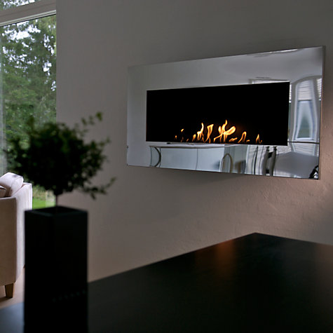 Buy Decoflame® New York Plaza Bioethanol Fire, Polished Steel Online at johnlewis.com