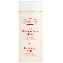Buy Clarins Cleansing Milk - For Combination/Oily Skin, 200ml Online at johnlewis.com