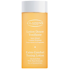 Buy Clarins Extra-Comfort Toning Lotion - For Dry/Sensitive Skin, 200ml Online at johnlewis.com