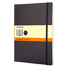 Buy Moleskine Extra Large Soft Cover Ruled Notebook Online at johnlewis.com