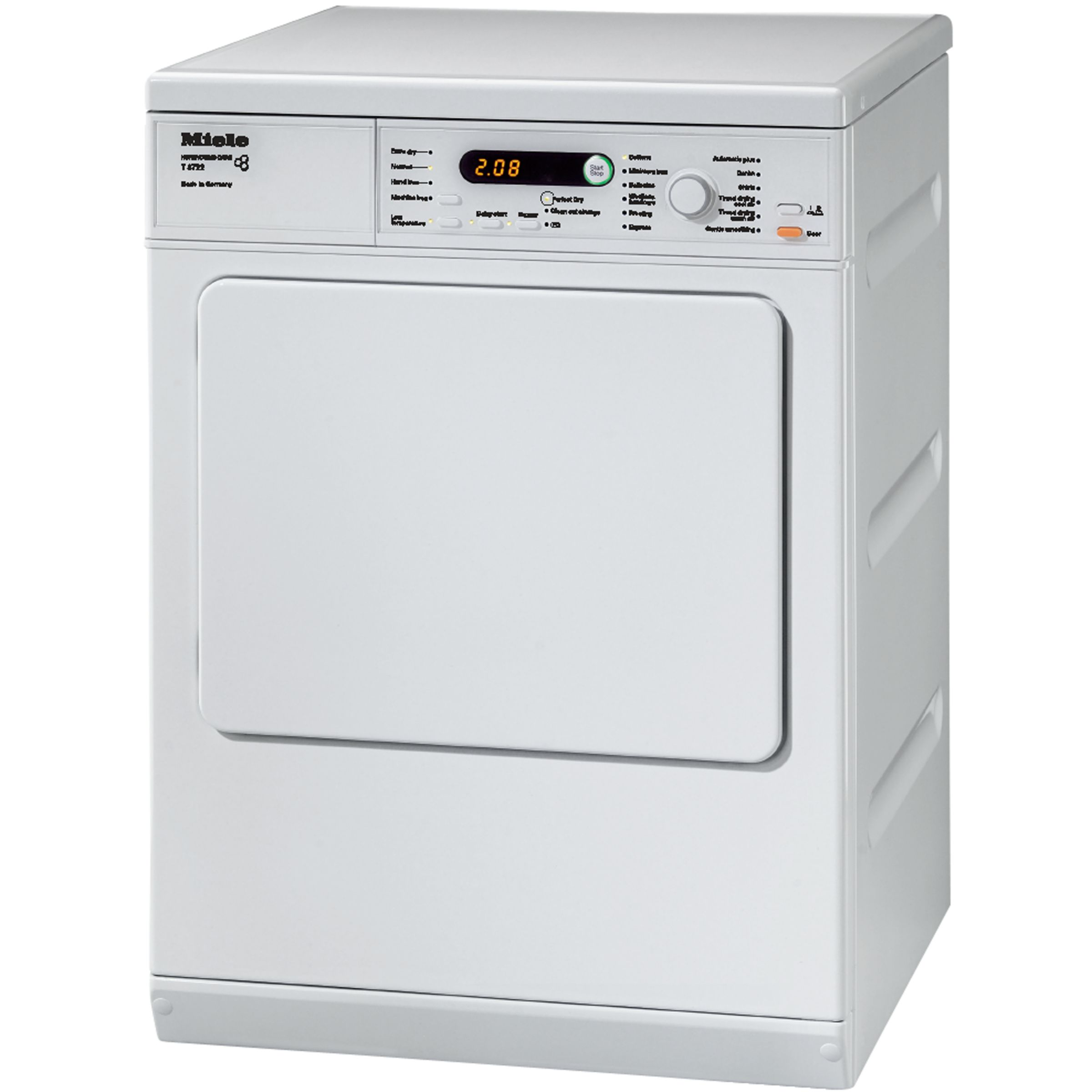 Miele Miele T8722 Vented Tumble Dryer, 7kg Load, C Energy rating, White