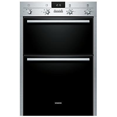 Image of Siemens HB43MB520B Built-In Double Electric Oven, Stainless Steel