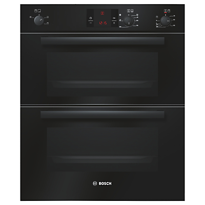 Image of 600mm Built-under Double Electric Oven LED Black