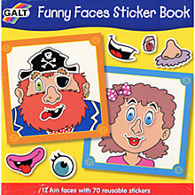 Buy Galt Funny Faces Sticker Book Online at johnlewis.com