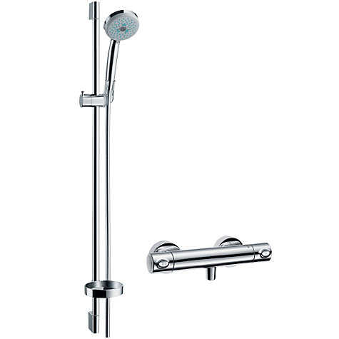 buy hansgrohe croma 100 shower set john lewis. Black Bedroom Furniture Sets. Home Design Ideas