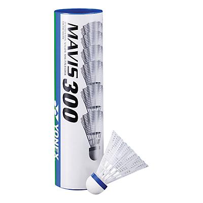 Yonex Mavis 300 Shuttlecocks, Pack of 6, White