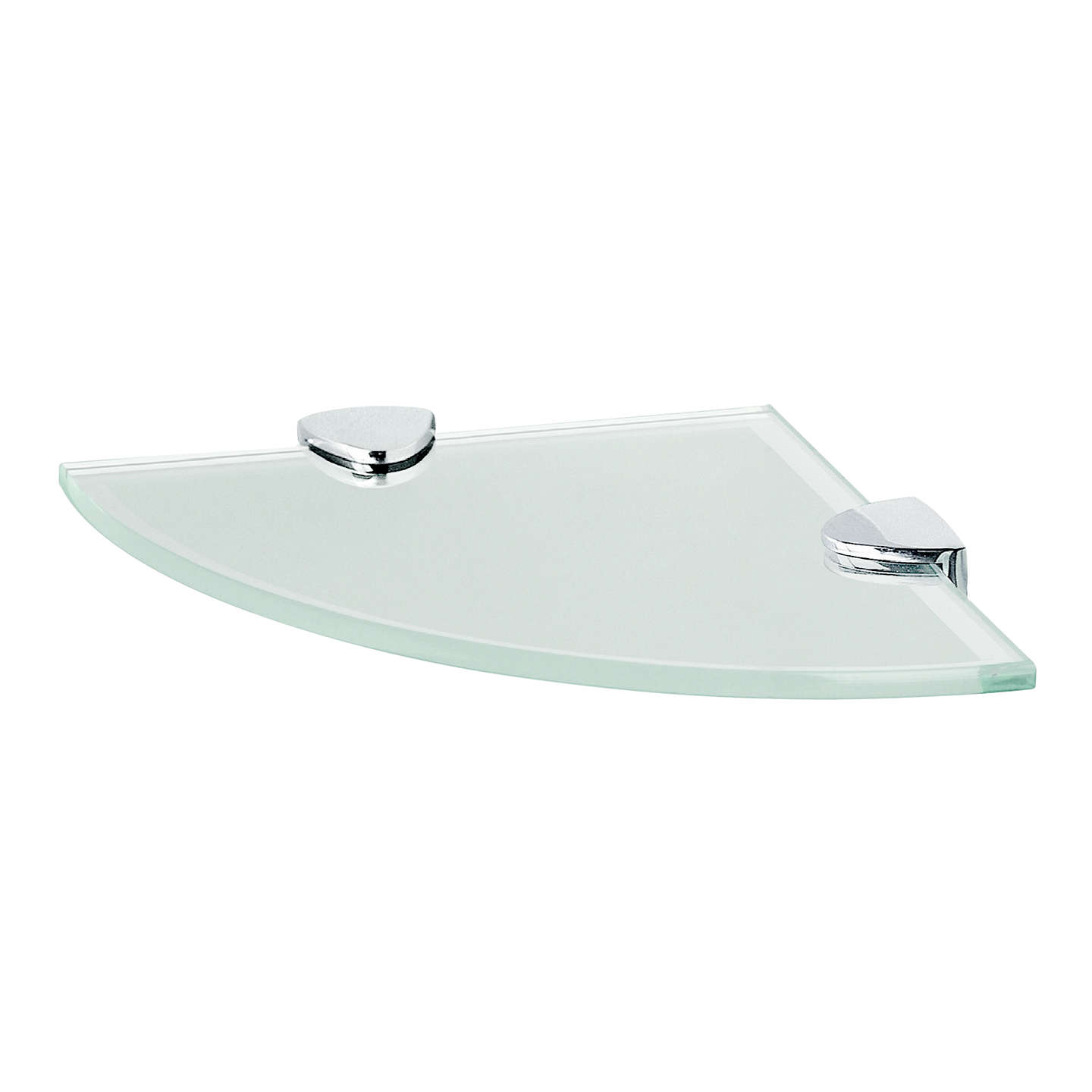 Miller frosted glass bathroom corner shelf at john lewis - Bathroom glass corner shelves shower ...