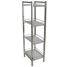 Buy John Lewis Ice 4 Tier Shelf Unit Online at johnlewis.com