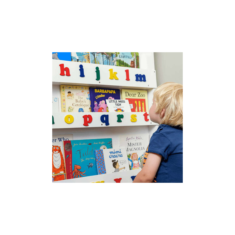 Tidy Books ABC Bookcase | White at John Lewis