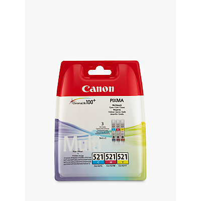 Image of Canon CL-521 Colour Inkjet Cartridge Multipack