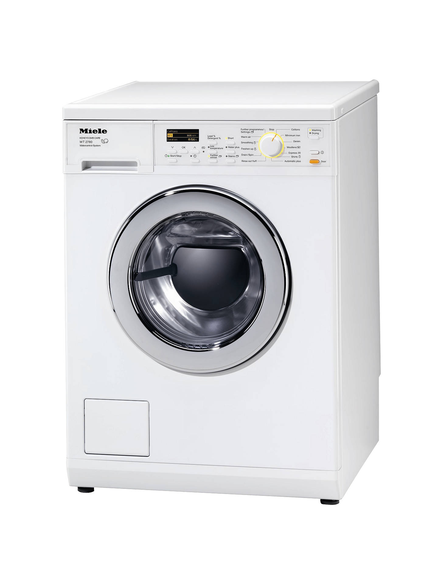 Miele WT2780 Washer Dryer, 5kg Wash/3kg Dry Load, A+ Energy Rating
