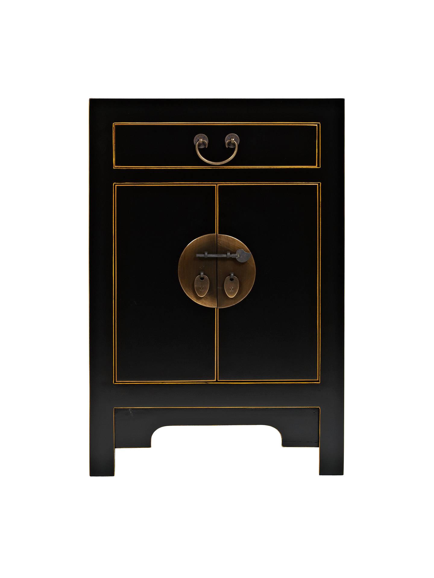 John Lewis Chinese Collection Suri Small Cabinet Black Online At Johnlewis