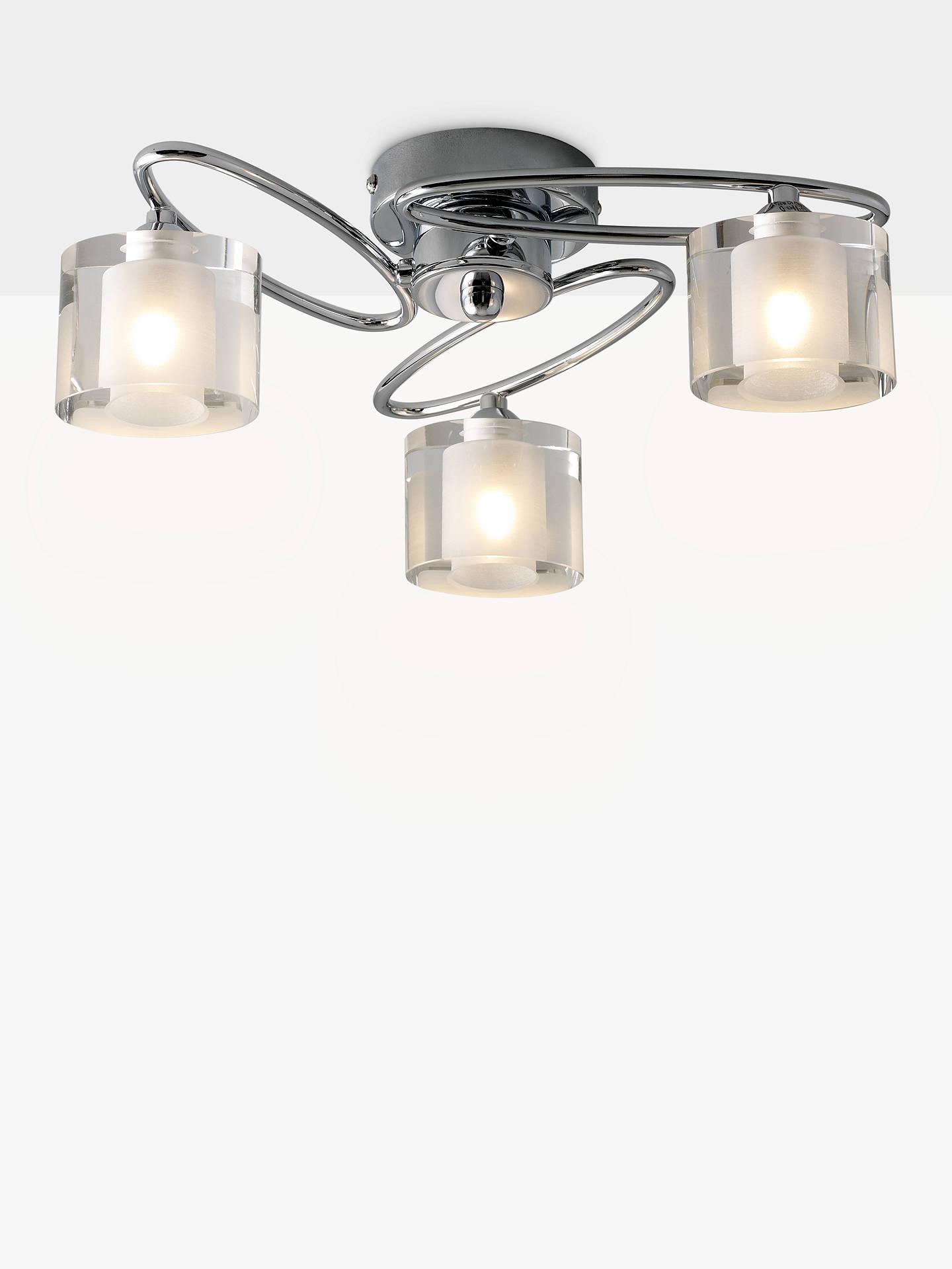 John lewis partners zola semi flush 3 arm ceiling light chrome