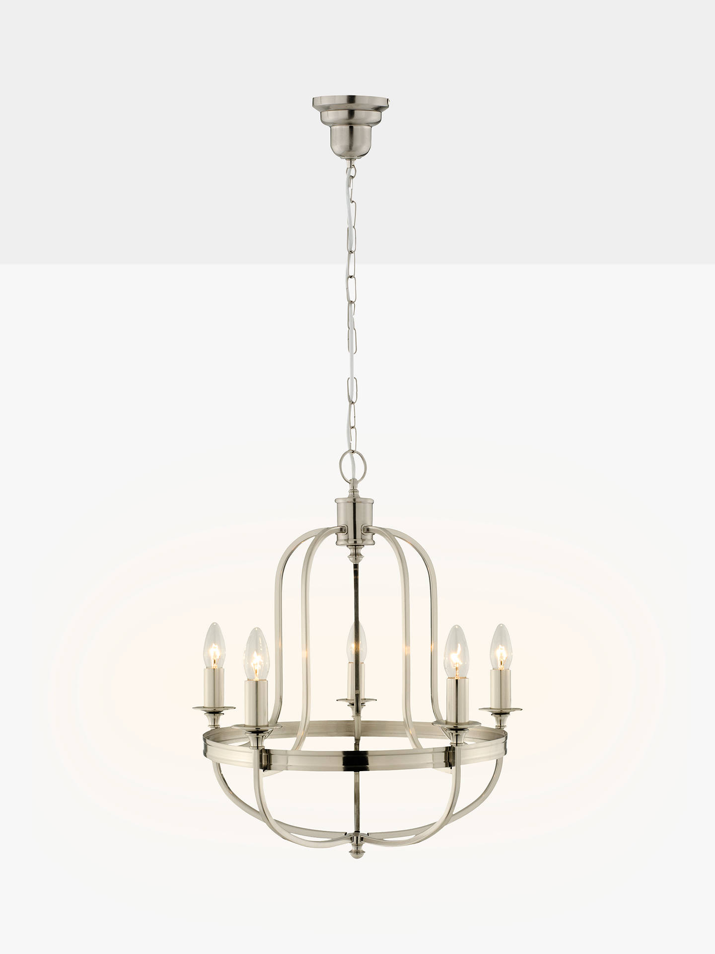 Buy john lewis partners warwick chandelier ceiling light brushed chrome online at johnlewis