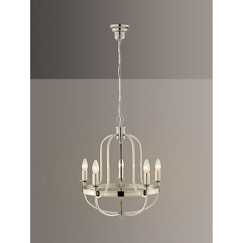Buy john lewis warwick chandelier brushed chrome 5 arm john lewis buy john lewis warwick chandelier brushed chrome 5 arm online at johnlewis mozeypictures Gallery