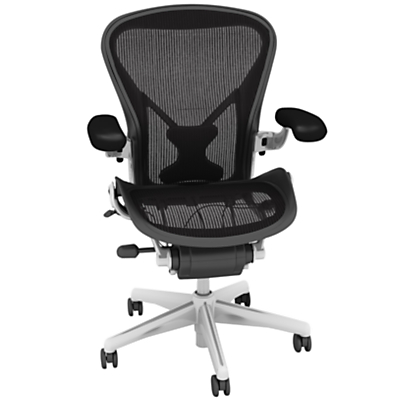 Herman Miller Classic Aeron Office Chair, Polished Aluminium