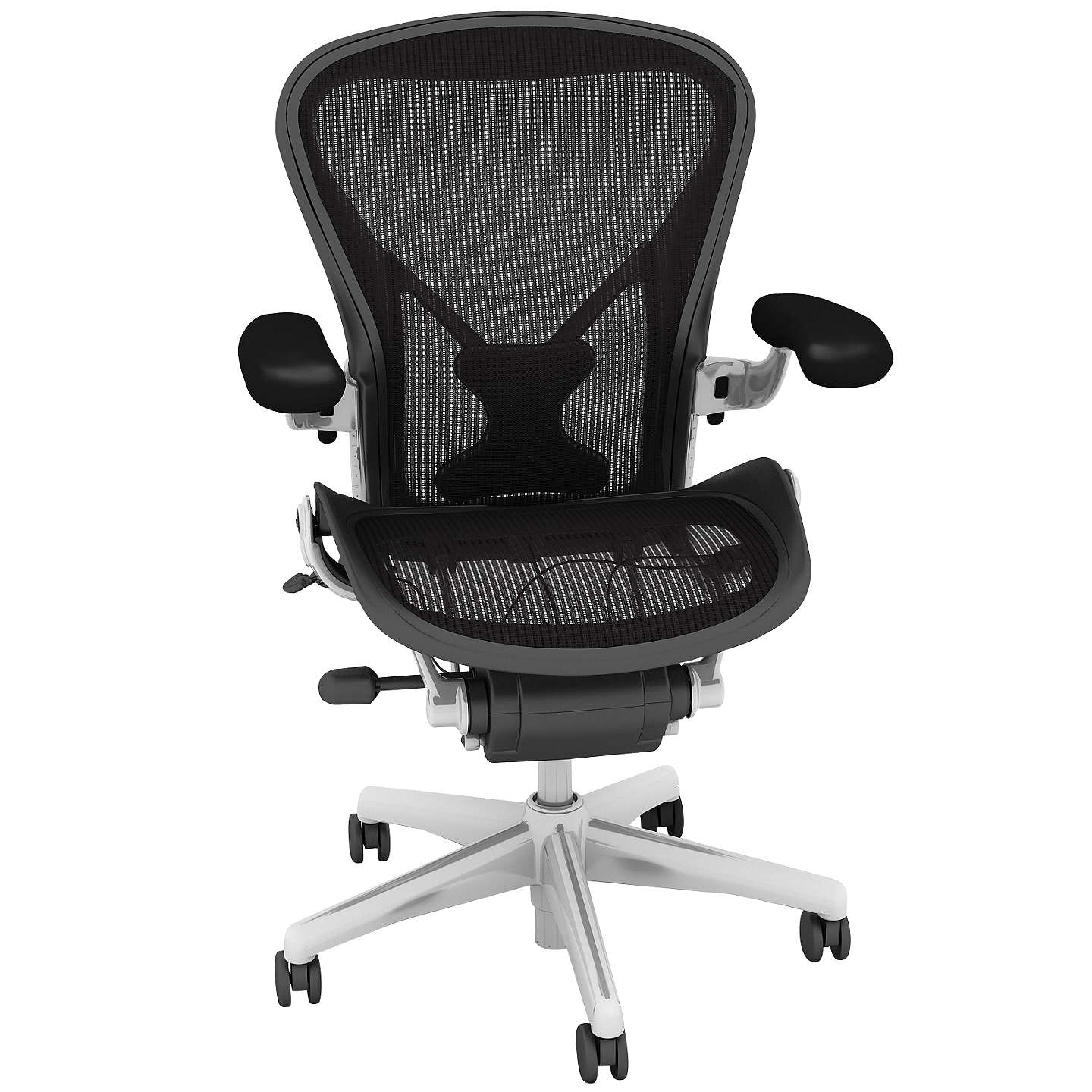 classic office chair. BuyHerman Miller Classic Aeron Office Chair, Size A, Polished Aluminium Online At Johnlewis. Chair