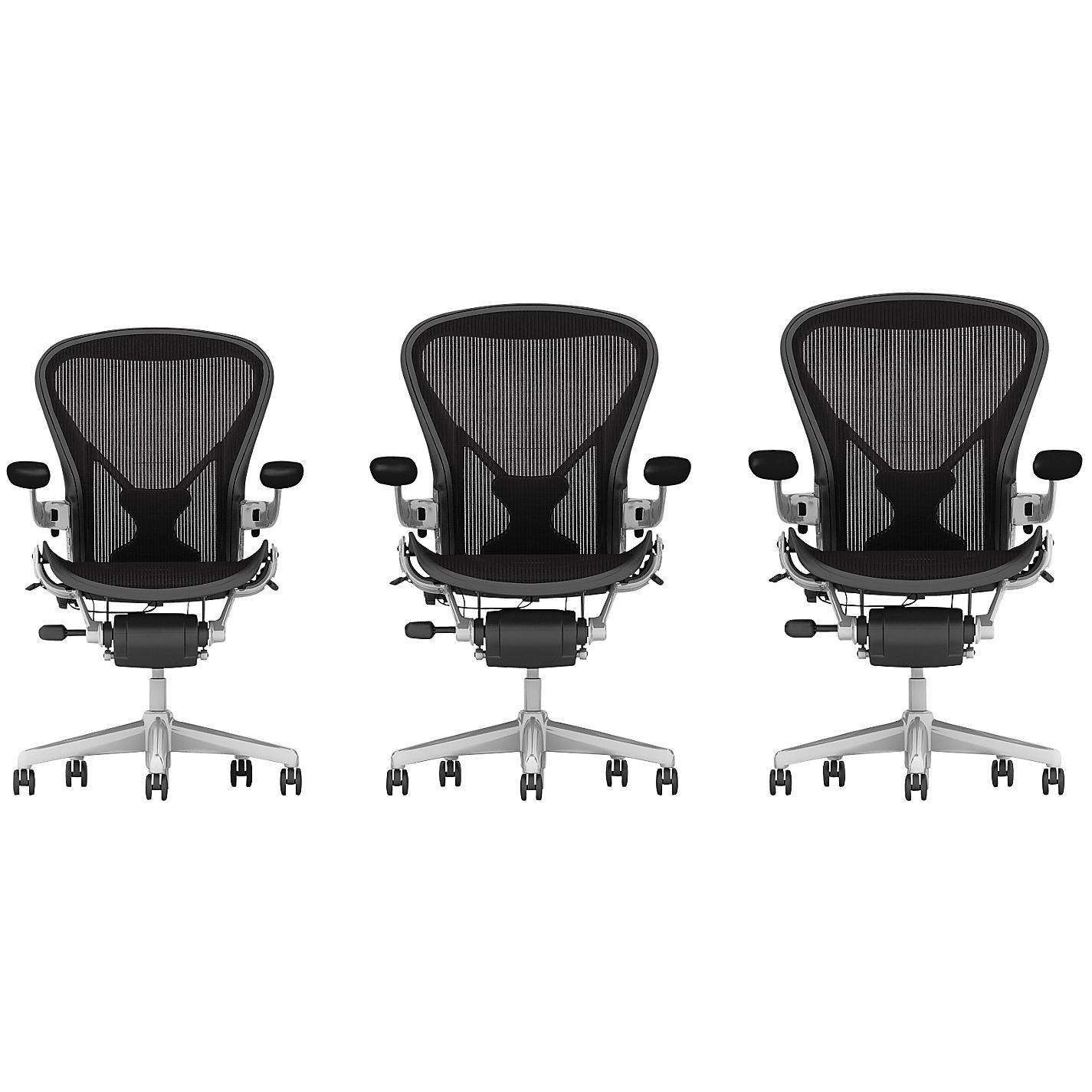 Buy Herman Miller Classic Aeron Office Chair Polished Aluminium
