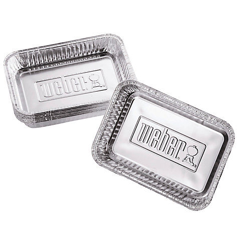 Buy Weber® Small Aluminium BBQ Drip Trays, Pack of 10 Online at johnlewis.com