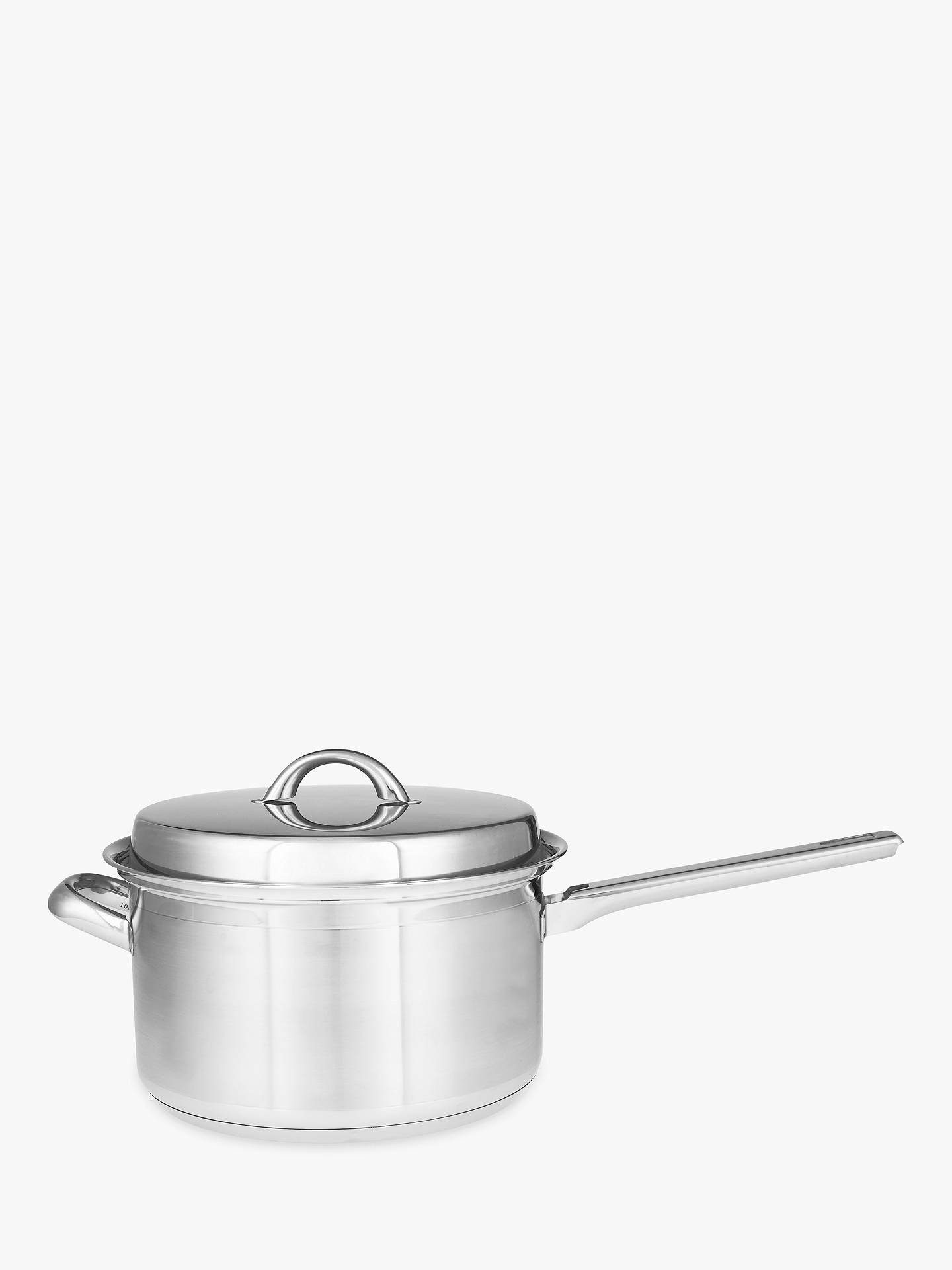 BuyJohn Lewis & Partners Classic Lidded Saucepan with Helper Handle, 22cm, 3.7L Online at johnlewis.com