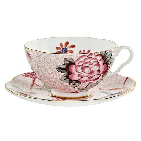 Buy Wedgwood Cuckoo Tea Cup and Saucer, Pink Online at johnlewis.com