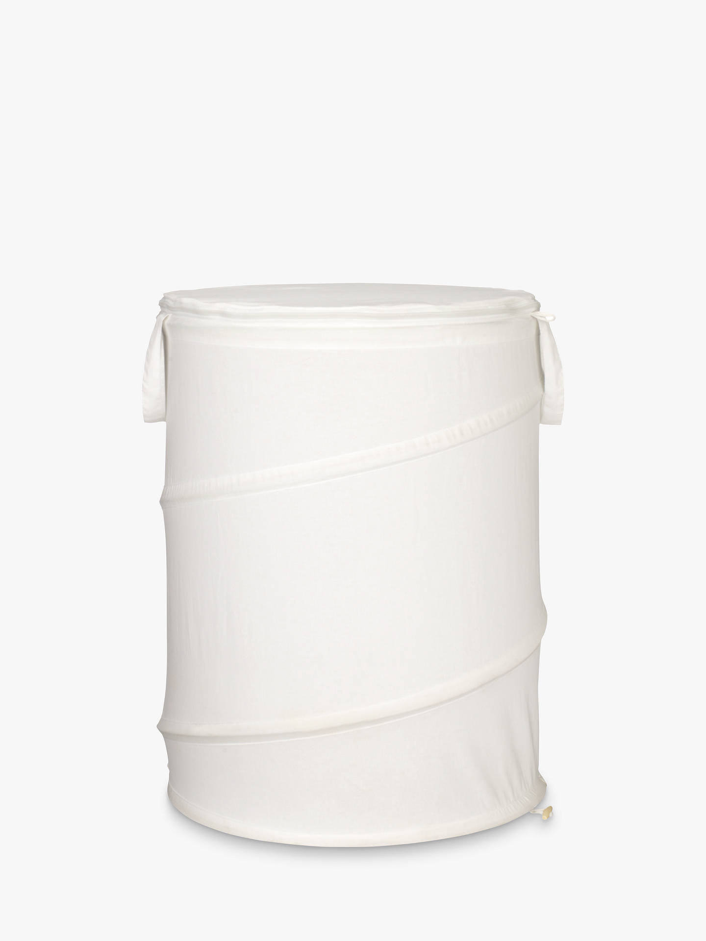 BuyJohn Lewis & Partners Cotton Pop-Up Laundry Hamper, Bone, Small Online at johnlewis.com
