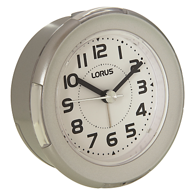 Lorus Flashing Alarm Clock Silver