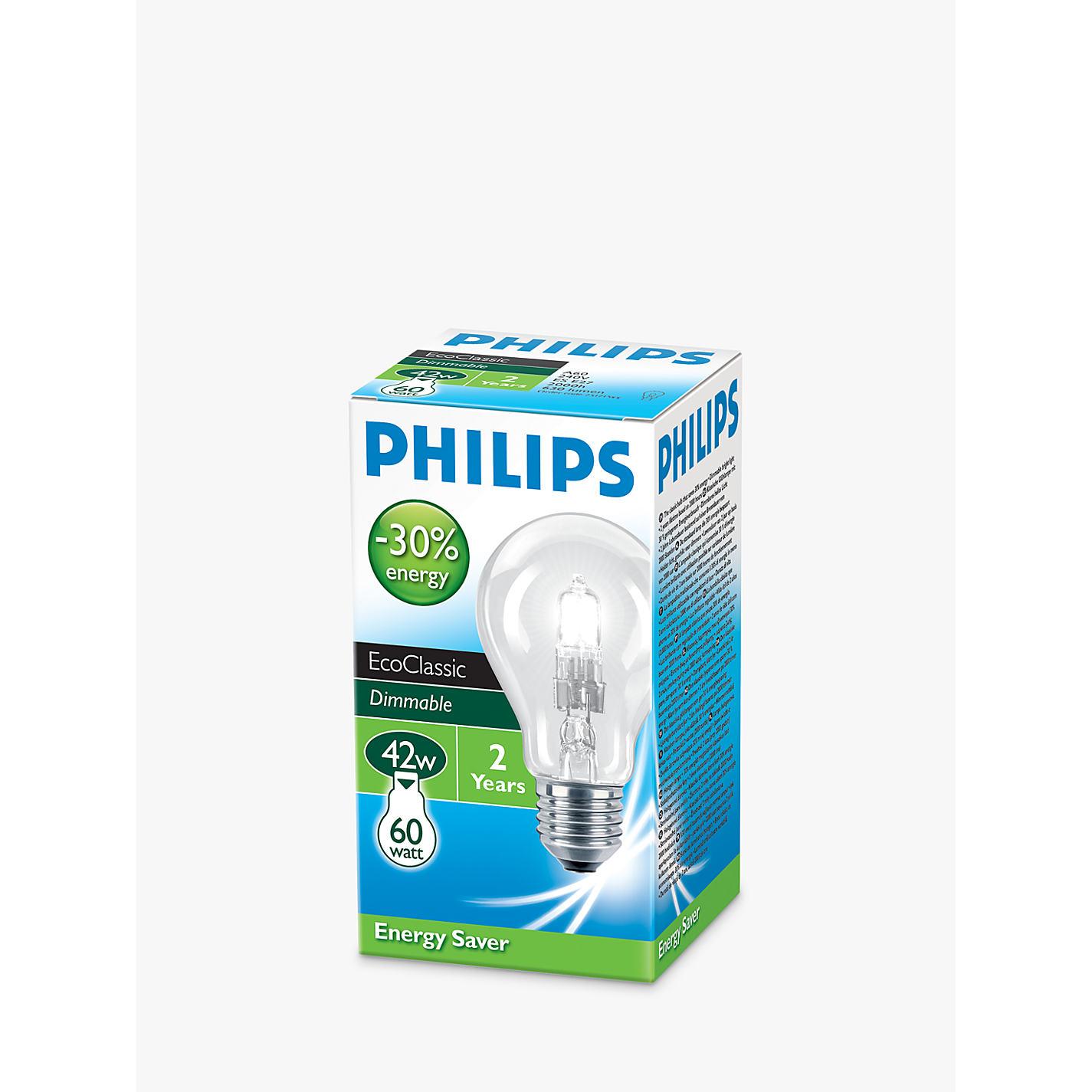 Buy Philips W ES Halogen Classic Bulb Clear