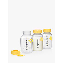 Buy Medela Breastmilk Storage Bottle, Pack of 3, 150ml Online at johnlewis.com